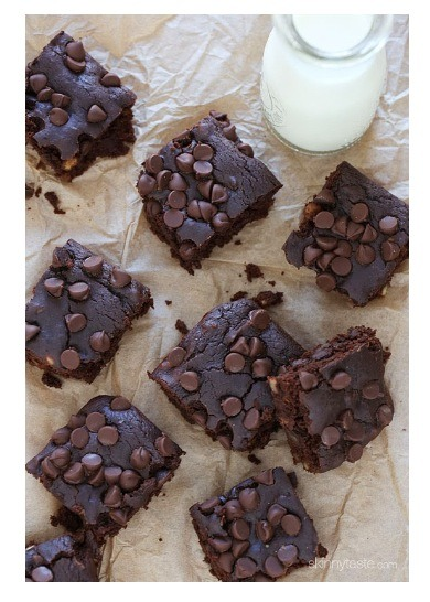 Moist, chocolatey and delicious!!! finally a low-fat, gluten-free brownie that's pretty darn good!  They really feel like you're eating something loaded with butter, yet it only uses 1/2 teaspoon of oil.
