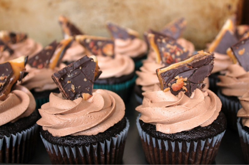 1.Chocolate Whiskey Cupcakes.  Chocolate and whiskey is a bit like caramel and salt; it needs to be tasted to be believed.