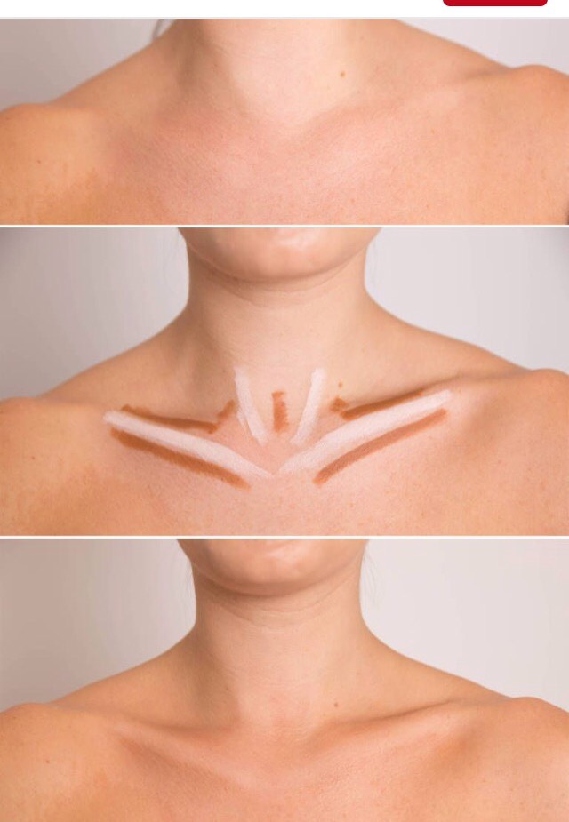 Defined collarbone makes you look thin