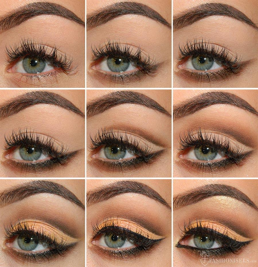 4. Darken your crease line as needed, until you are satisfied. 5. Apply liner and lashes if you desire! They make this look definitely going-out-glam worthy!