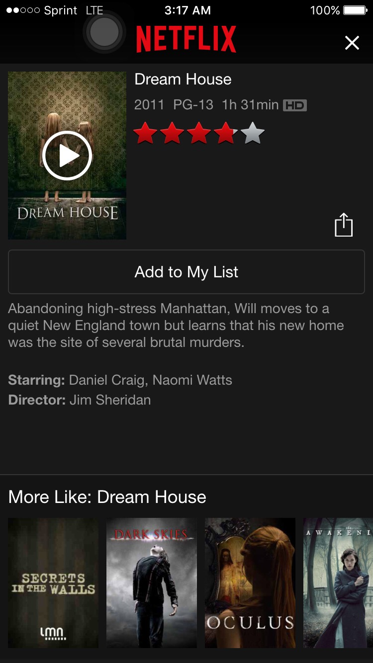 Dream house is a scary movie that's about a family moving into a new home full of surprises.