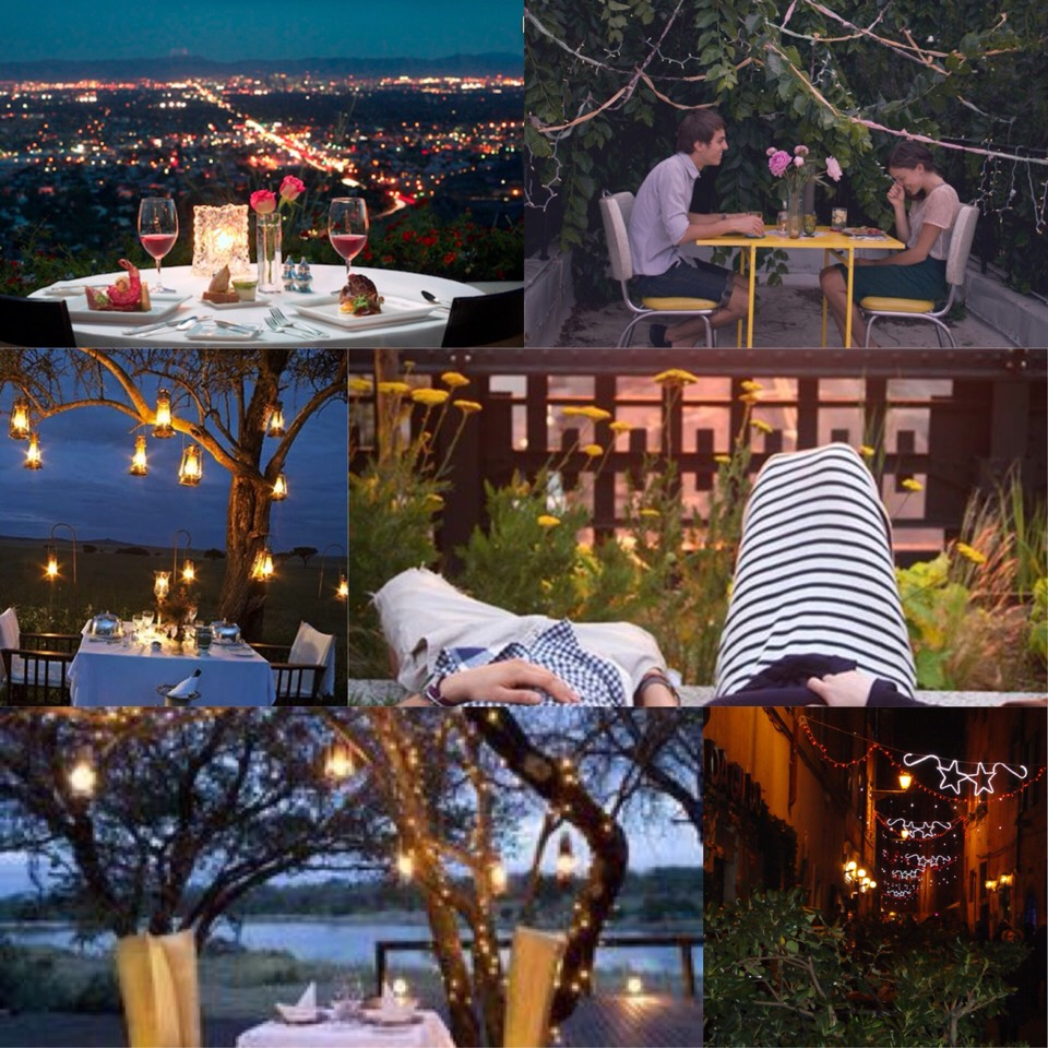 2. a nice outdoor dinner. it would be a nice & romantic old traditional way to get to know each other💙