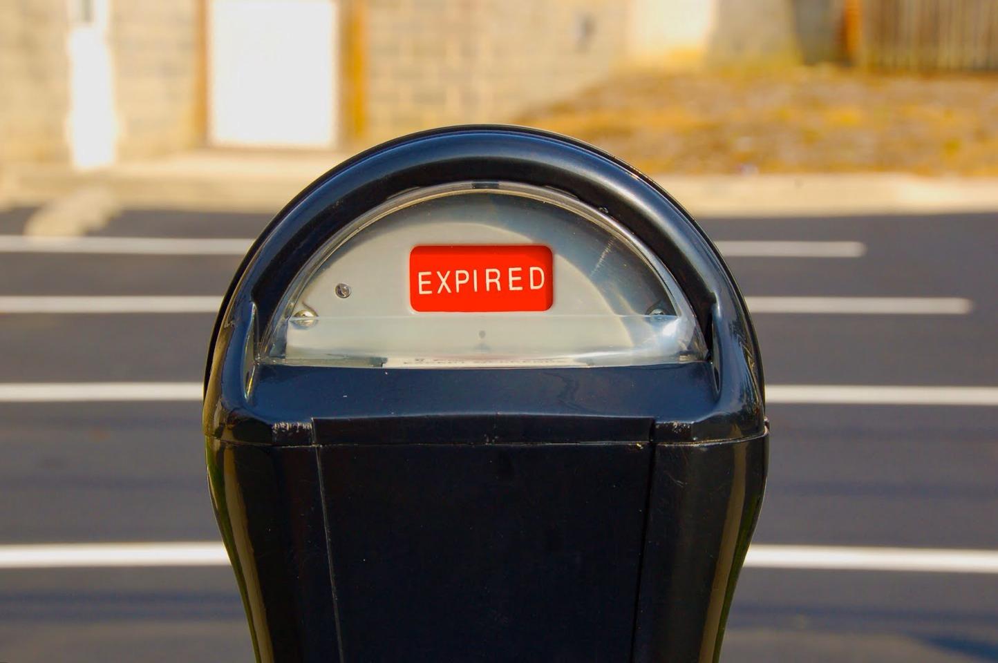 Cheap help: fill an expired parking meter.