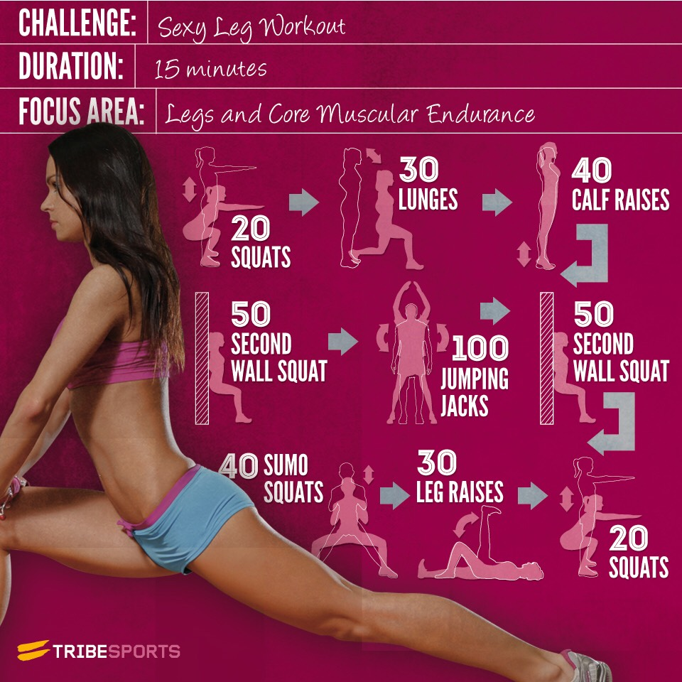 Doing this sexy leg workout can get you sexier legs that you want. From my experience, I've done this a few times and might of seen a tiny bit of a difference but I don't have time to do this anymore. But, if you do this, it could possibly work and you could get your sexy legs