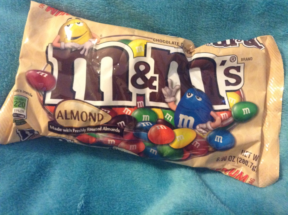 Period cramps are the worst but nuts and chocolate help with them and almond M&M's taste really good and help with cramps so it's a win win situation.