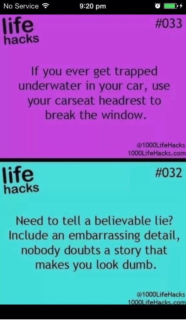Well if you ever find yourself in the situation of being stuck in a car underwater then here's a tip🚗 If you're like me and can't lie then try this