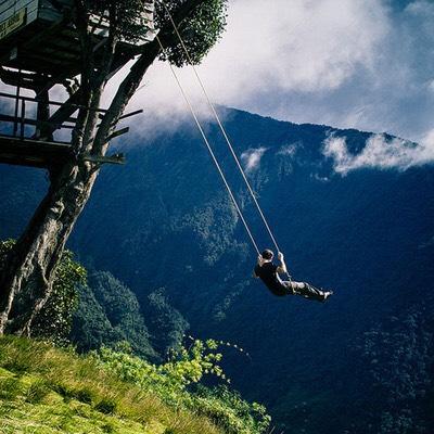 Swing at the end of the world ( Baños, Ecuador