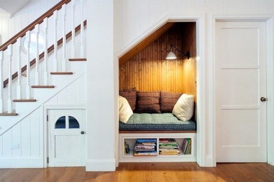Truck your nook under The stairs