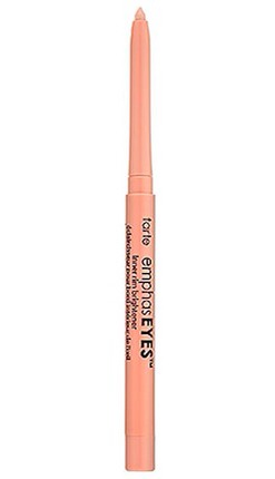 Brighten up those eyes!  When it comes to eye make-up, think light and flesh colored. Using a eye-brightening liner for a wide awake effect works wonders! Try: Tarte EmphasEYES Inner Rim Brightener, $19.00