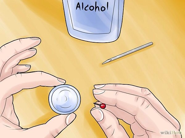 Put the earrings you wish to put in after you have pierced your ear into the alcohol.