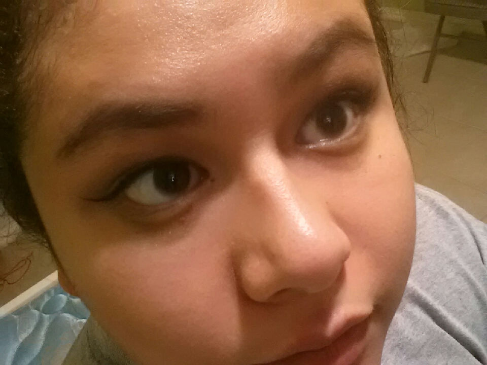 I did my eye makeup and brows. I just did a neutral brown shadow and added a bit of NYX Bedroom Eyes.