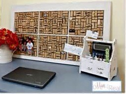 Great idea for a backing of a desk or just hang on your wall to display pics and such love this idea!
