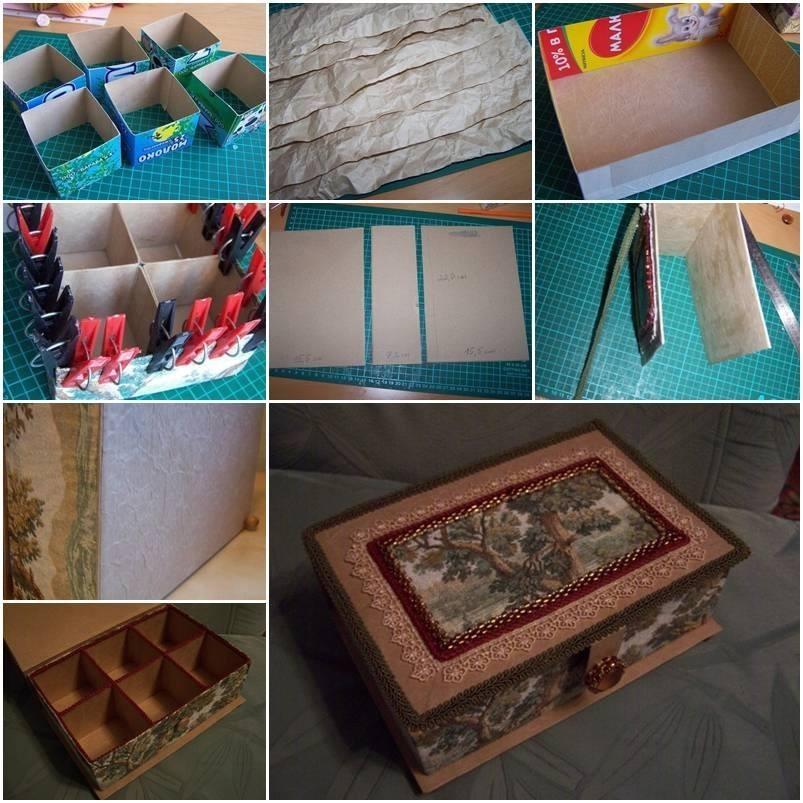 Cardboard organizer or jewelry box