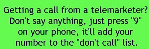"""Just press 9 when a telemarketer calls and your number will be added to the """"do not call"""" list."""