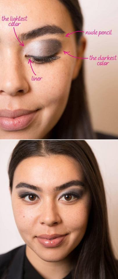 2. Make small eyes appear larger by drawing lines at the outer corners of your lids and up toward the brow bone.