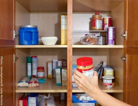 Pantry items  Discard anything expired and donate anything you won't use in the next three months to your local food bank. Having all of your cereal, pasta and canned goods visible will help you know and use what you have.