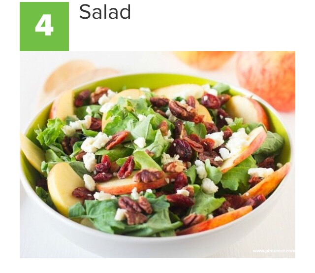 Simple: just grab some spring greens, add any veggies you like, & your favorite dressing!