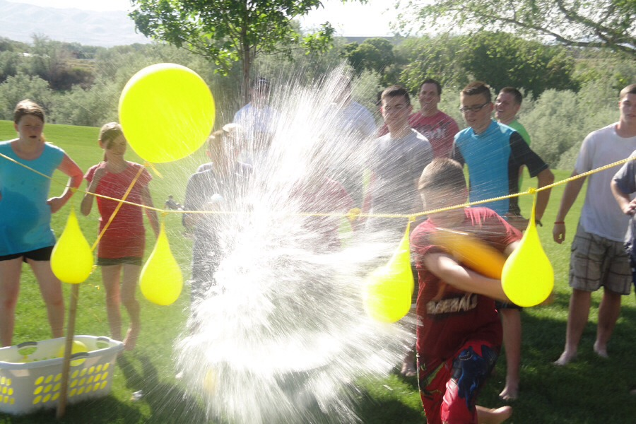 3.  Then enjoy splashing fun, this is great idea for a warm day, or, if you don't want to get wet just use regular balloons and pop them!