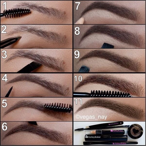 Steps To Awesome Eyebrows By Cristina Campos Musely