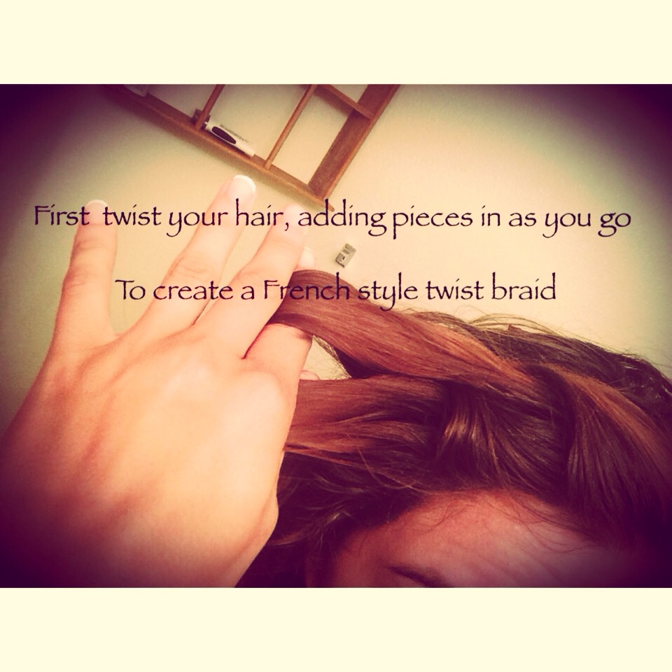 Twist braid your bangs adding in layers of hair