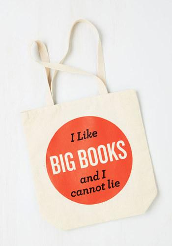 This classic one-liner tote that all literary nerds can relate to
