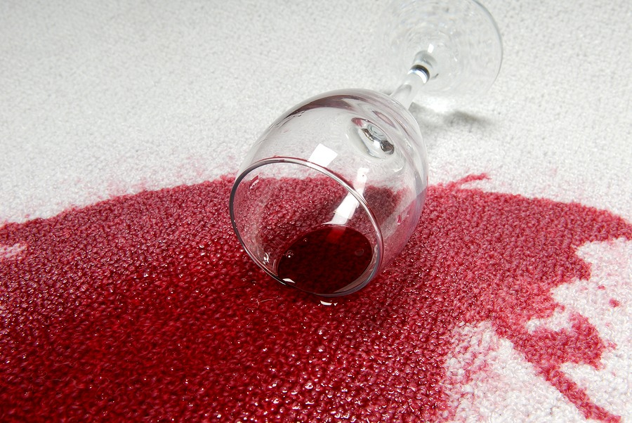 Red wine: Douse with salt, dunk in cold water, blot until the stain disappears, and wash as soon as possible. If you're at dinner and unable to strip down, soak the spot with club soda and get home to your washing machine ASAP.