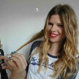 After curling with a curling iron, pull the lock of hair out straight. Get more complete directions here. http://www.divinecaroline.com/pretty-pack-blog/how-do-boho-curls
