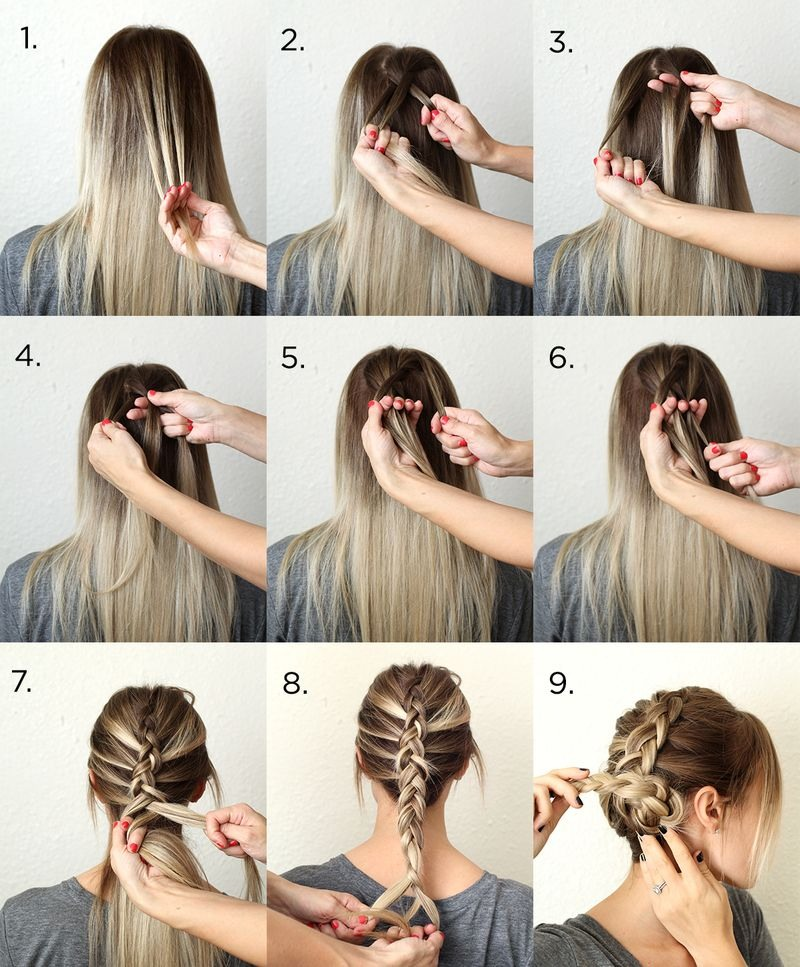 Make two Dutch braids on both sides of your head! These are opposite french braid!