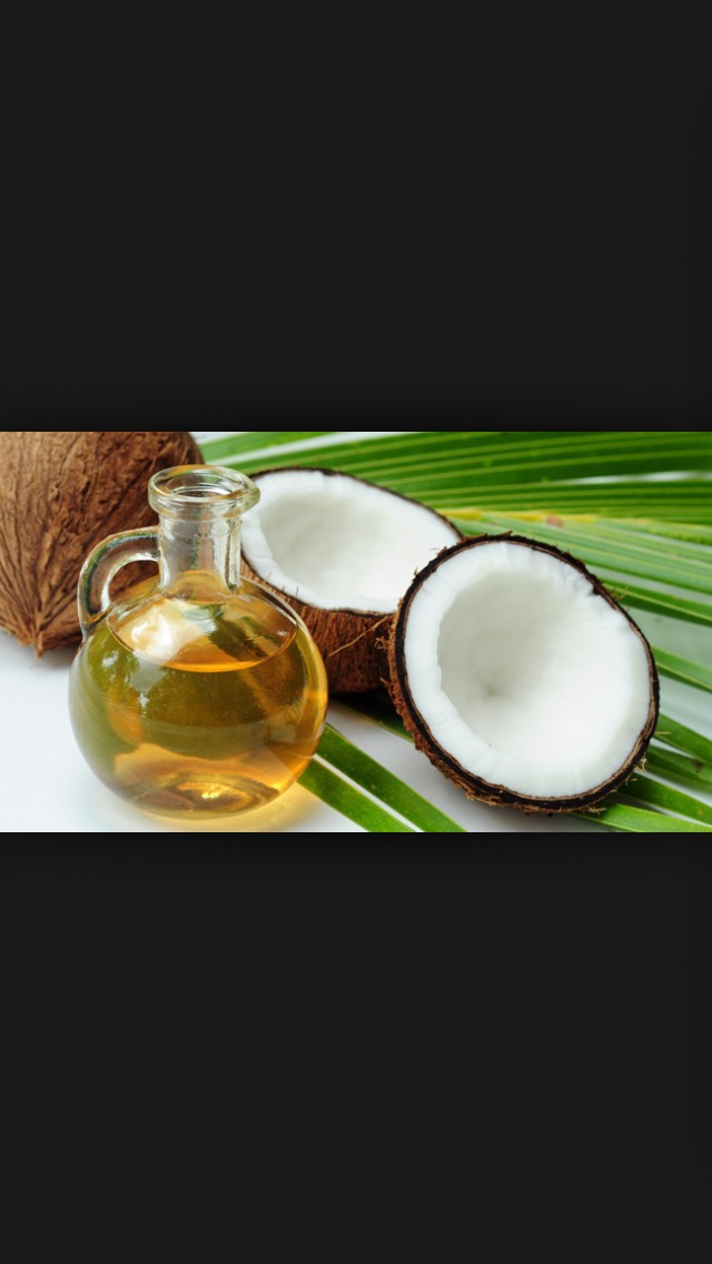 Coconut oil (if you want to use cooking oil or olive oil I recommend putting some shampoo in it to make it smell better)
