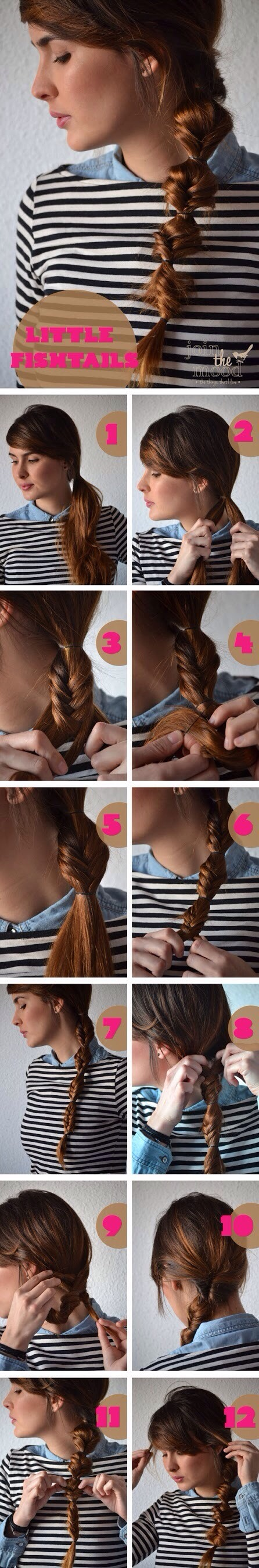 Click the picture to see all of the how to. Fish Tail Braid spiced up a bit ❤️