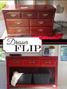 Dresser flip before and after!