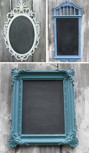 Paint frame, use chalk board paint and paint glass