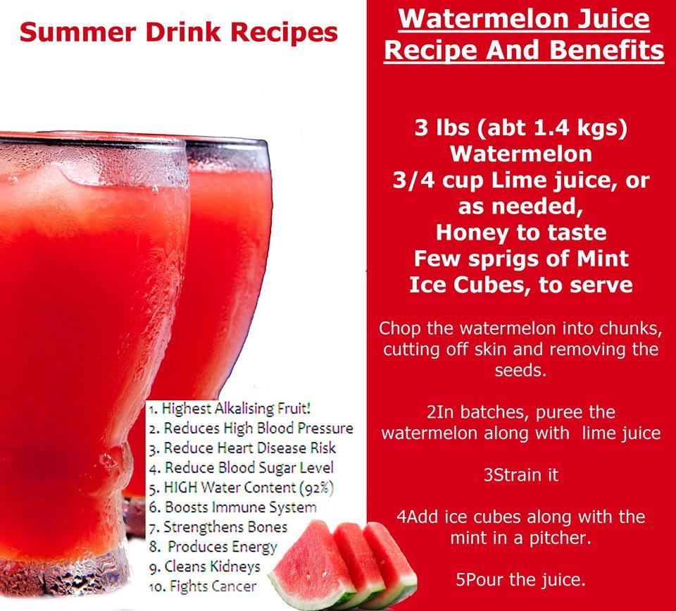 watermelon juice recipe and benefitsshantel barton - musely
