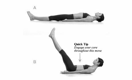 Do 20 leg raises , it easy and simple.