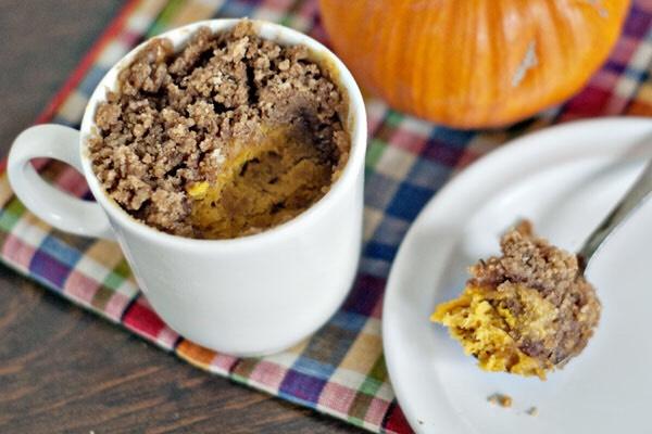 Pumpkin Coffee Mug Cake