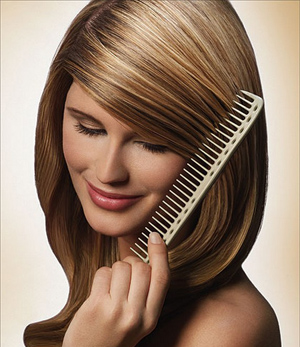 After washing your hair, comb it out with a wide-tooth comb instead of a brush.