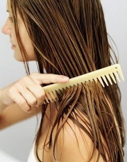 Reminder 2: whenever brushing wet hair use a wide tooth comb. This way it doesn't break in it's weakest state.