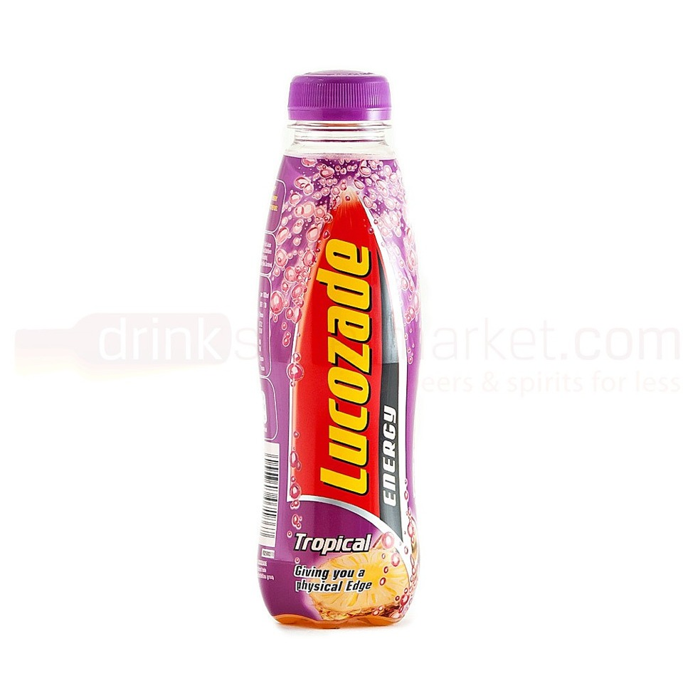 There are 52.4 grams of sugar in a 380ml bottle of Lucozade.  A teaspoon is about 4.2gs. That means there are about 12.5 teaspoons of sugar in just a small bottle of Lucozade! And, even worse, there are 24 calories in each teaspoon of sugar! :(