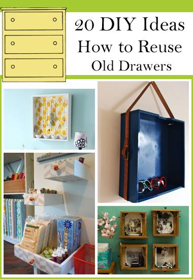 Ideas How to Reuse Old Drawers