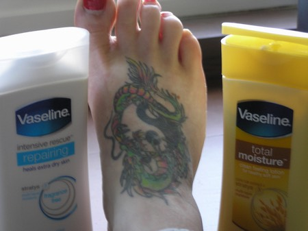 it can be used to help moisturise tattoos and help heal.