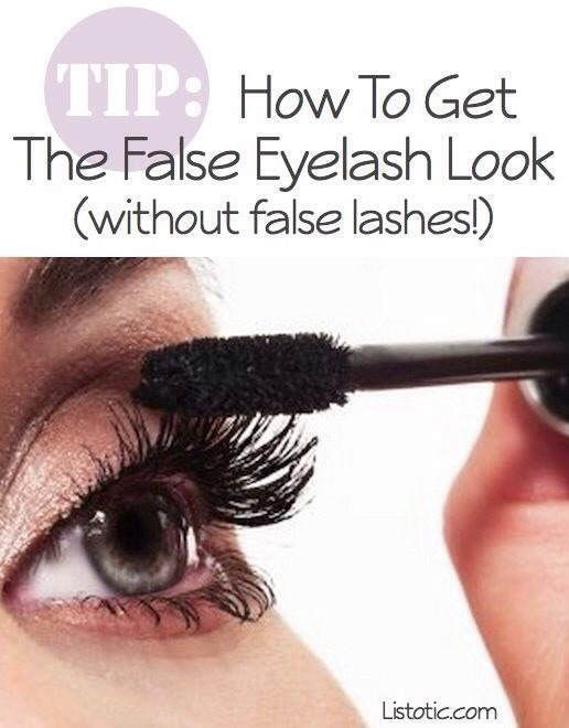 12. The False Eyelash Look False lashes can be a pain, not to mention time consuming! Here are a few ways to get the look without the hassle: ➡️➡️➡️➡️➡️