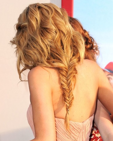 The messy fishtail: create the perfect messy fishtail either using all of your hair or the lower half showing off your luscious curls!