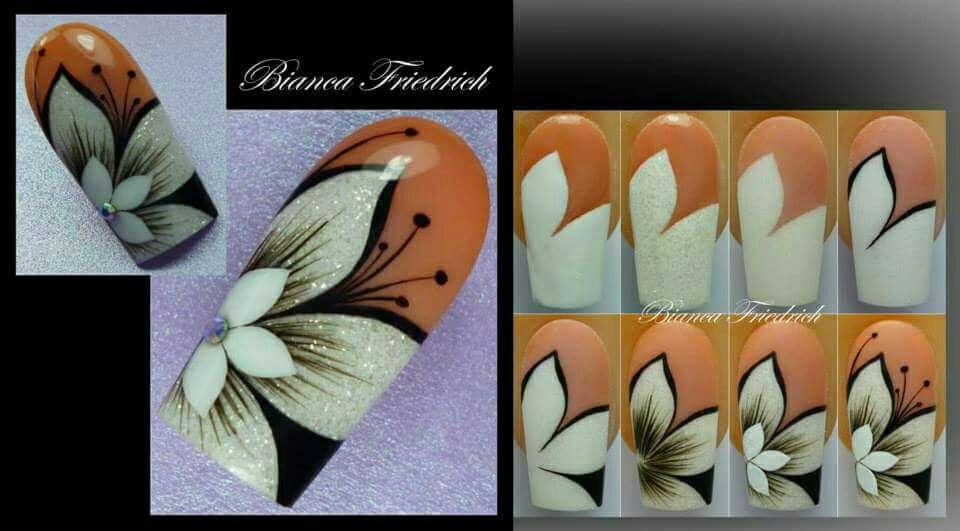 Поэтапный дизайн ногтей гель лаком
