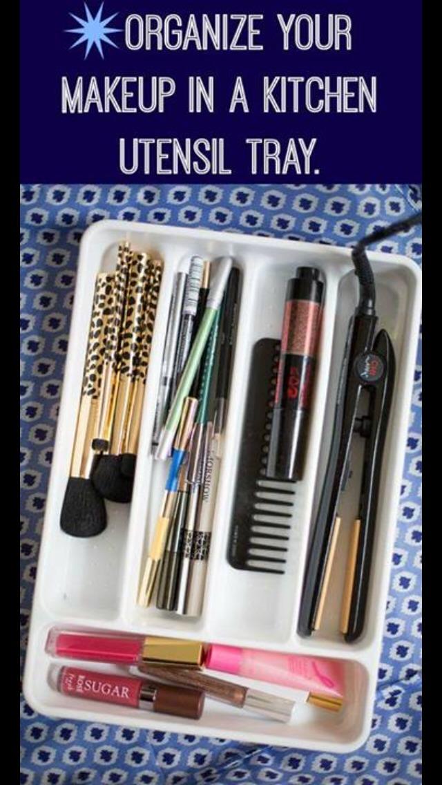 Cheap kitchen utensil tray so organized!