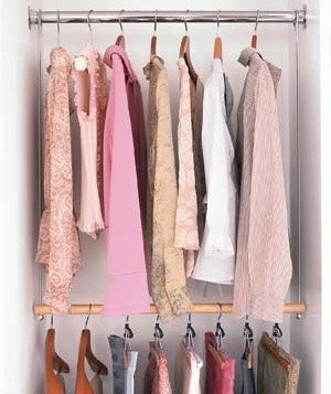 Start hanging clothes up or if they are dirty put them in your wash basket🙌