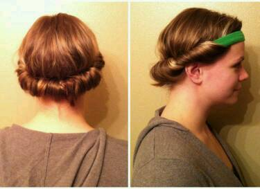 While your hair is wet (or damp) wrap your hair around a head band like this and leave it in overnight