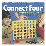 Connect Four - There is a lot of strategy involved though, and you really have to pay attention, so it can be lots of fun. (Only 2 can play at a time -- in our family we have tournaments, with various rounds and an ultimate champion at the end of the family game night.)