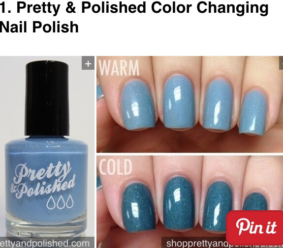 Depending on the temperature this polish creates two different shades!!! - $8.99
