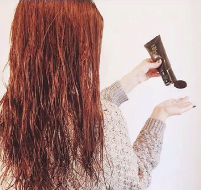 Wash your hair and half dry it leaving it damp but not dry.