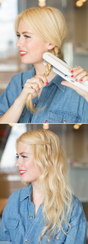 12. You can also try the same technique, except braid your hair instead of twist it: